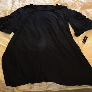 NWT New black dress bell sleeve knit 1X Plus 16W